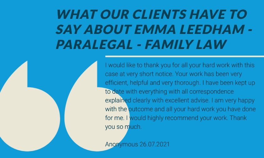 Emma Leedham - Testimonial